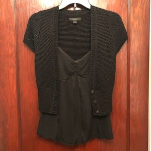 Dressy camisole and sweater set